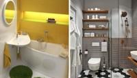 Ufak Banyolar için Kullanışlı Dekorasyon Modelleri