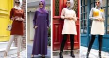Birbirinden Şık Tesettür Elbise Modelleri